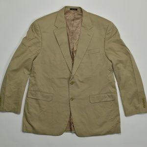Chaps, Regular 44R Beige   Sport Coat Blazer Cotto